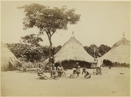 Zande homestead with women