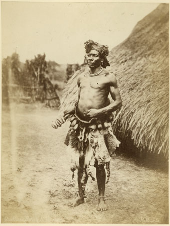 Portrait of a Zande witchdoctor