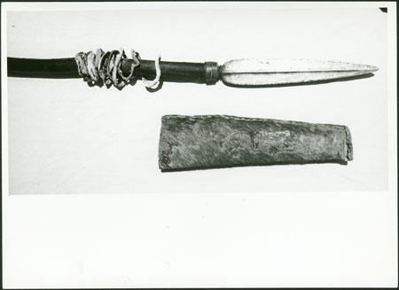 Dinka spear and sheath