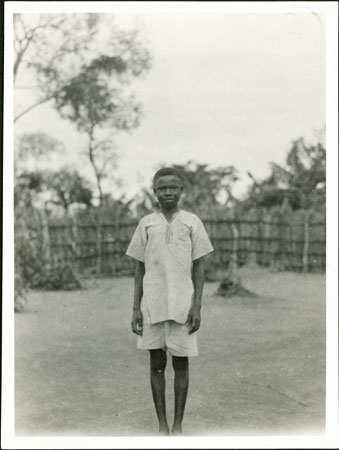 Portrait of a Zande youth