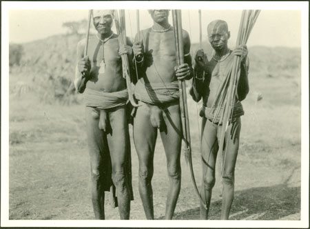 Mabaan men with bows and arrows