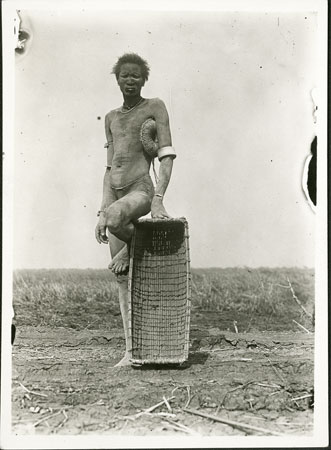 Nuer man with basket