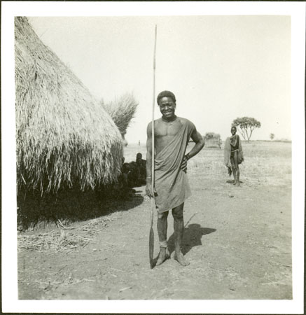 Shilluk man with spear