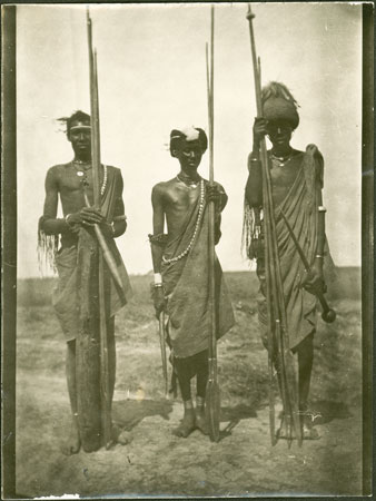Three Shilluk men
