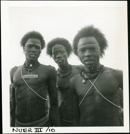 Portrait of Nuer youths
