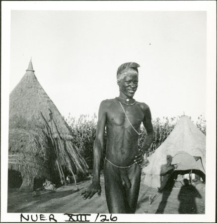 Portrait of a Nuer youth