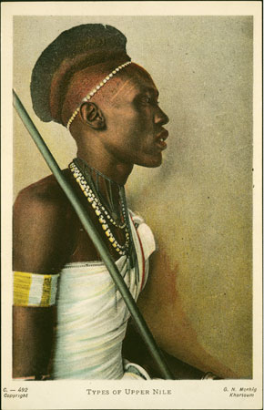 Portrait of a Shilluk man