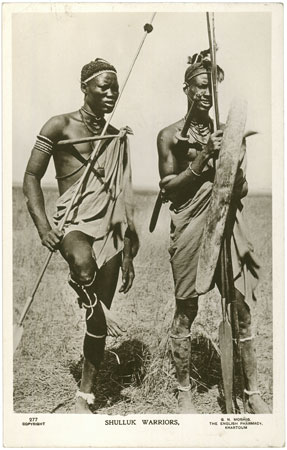 Portrait of two Shilluk men