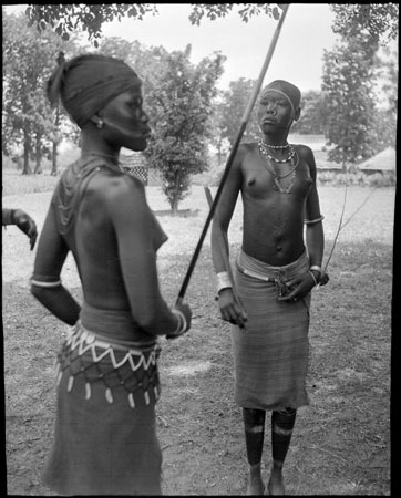 Mandari women in dance gear