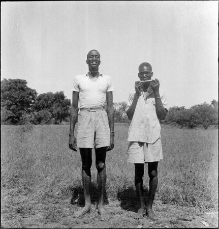 Portrait of two Dinka youths
