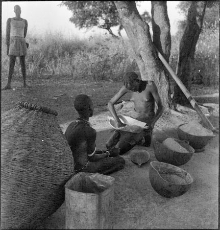 Dinka food preparation