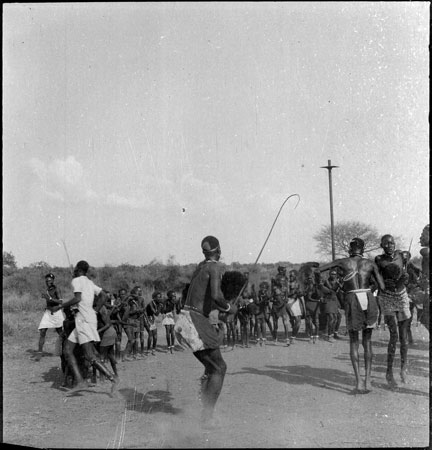 Dinka youths dancing
