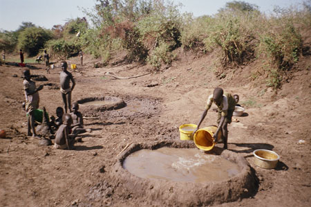 Nuer water holes