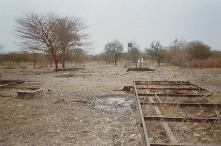 Destroyed oil facilities